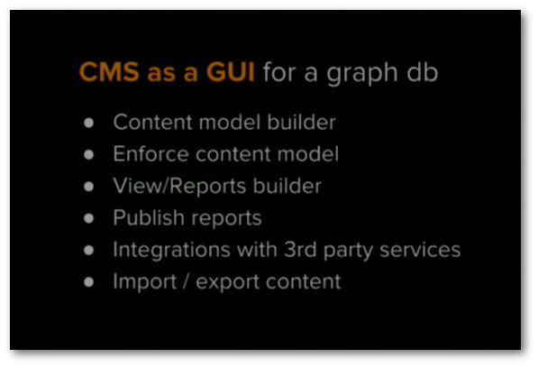 CMS as GUI of graph db