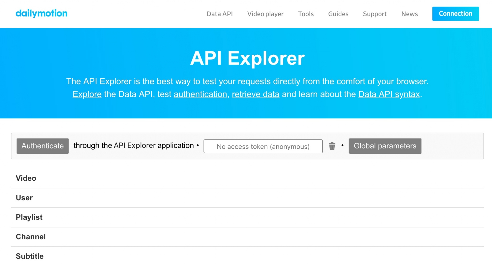 Analyzing the API docs and DX Patterns in the Best Media