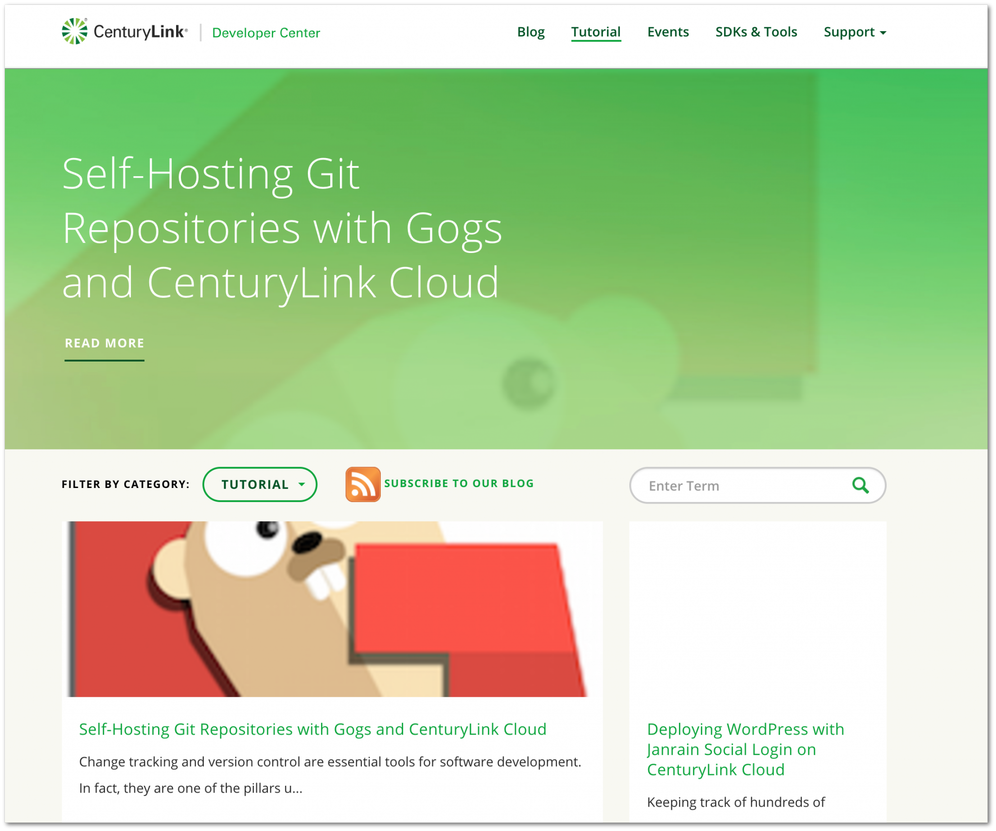 "CenturyLink provides a blog topic ""tutorial"", but this page is also directly available from the top menu (CenturyLink blog)"