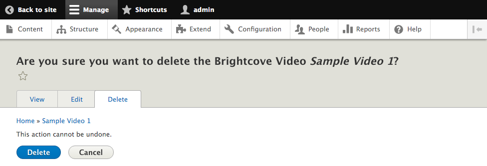 Brightcove Video Connect for Drupal 8 - Part 3: Video & Playlist
