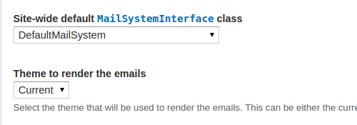 Mail System Settings